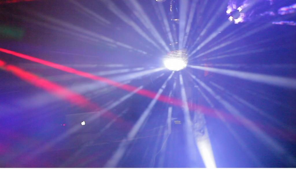 Dance lights disco ball blue | Castle Park